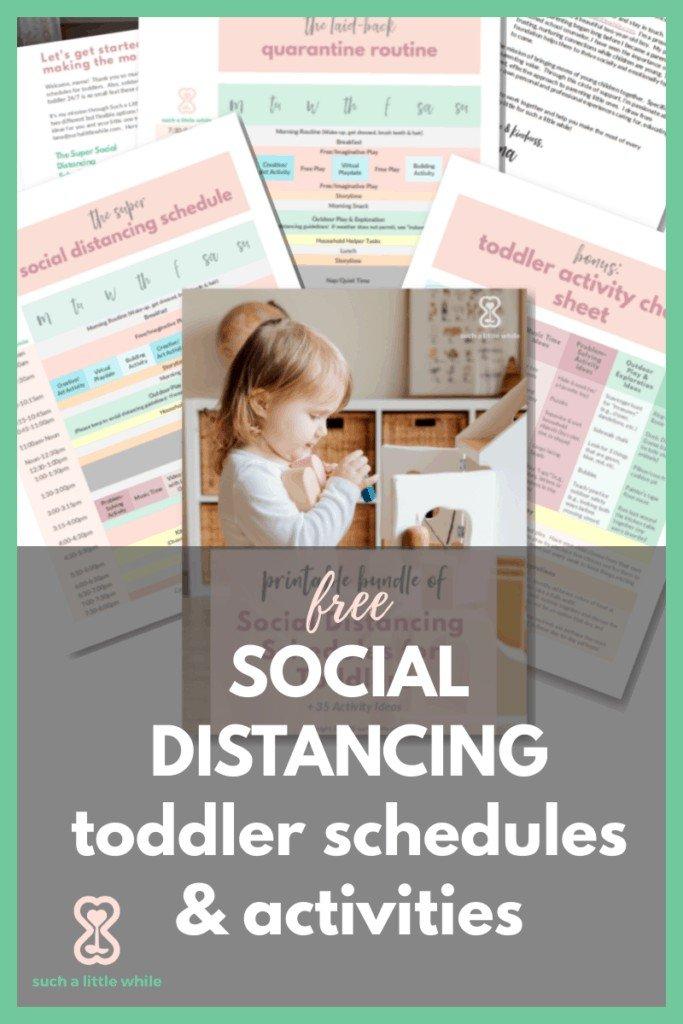 FREE Quarantine Toddler Activites & Schedules