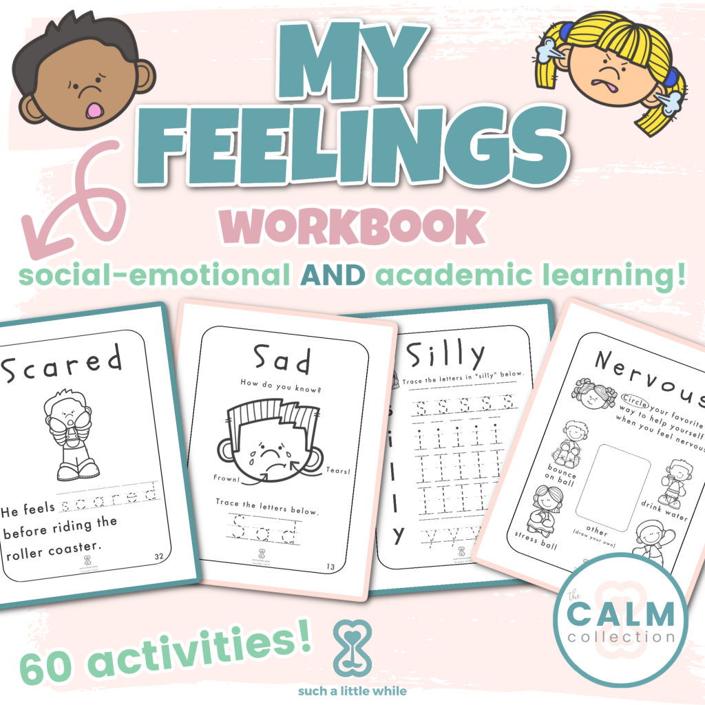 My Feelings Workbook PDF by Such a Little While