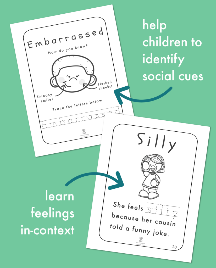 Help children identify social cues and learn feelings in-context.