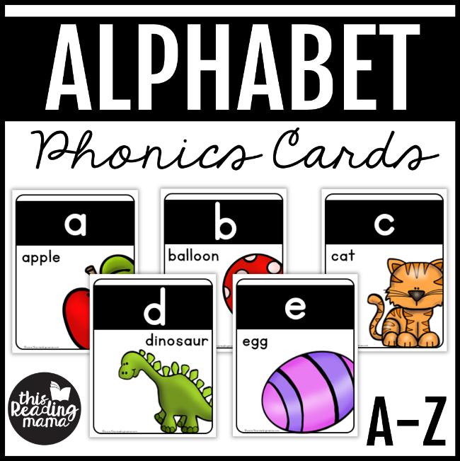 This Reading Mama (homeschool preschool worksheet): Alphabet Phonics Cards