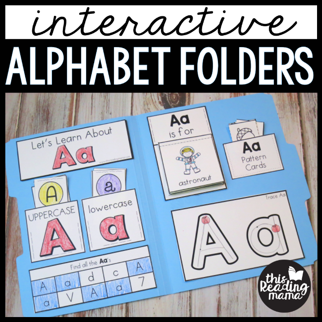 This Reading Mama (homeschool preschool worksheet): Interactive Alphabet Folders