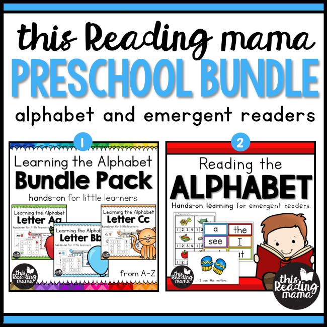 This Reading Mama: Preschool Bundle (alphabet and emergent readers)