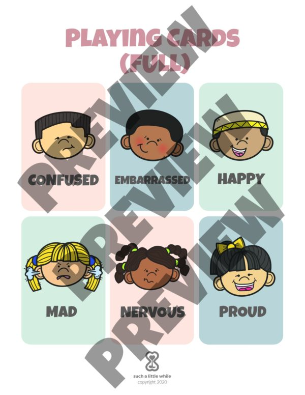 Feelings Bingo Game Preview 2