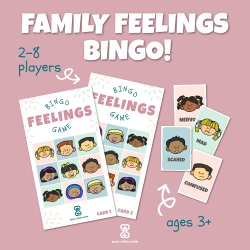 Family Feelings Bingo Printable Game
