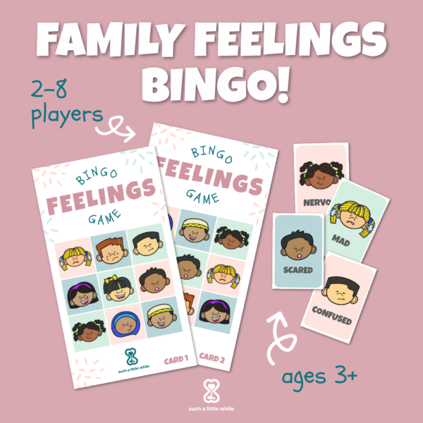 Family Feelings Bingo Printable Game