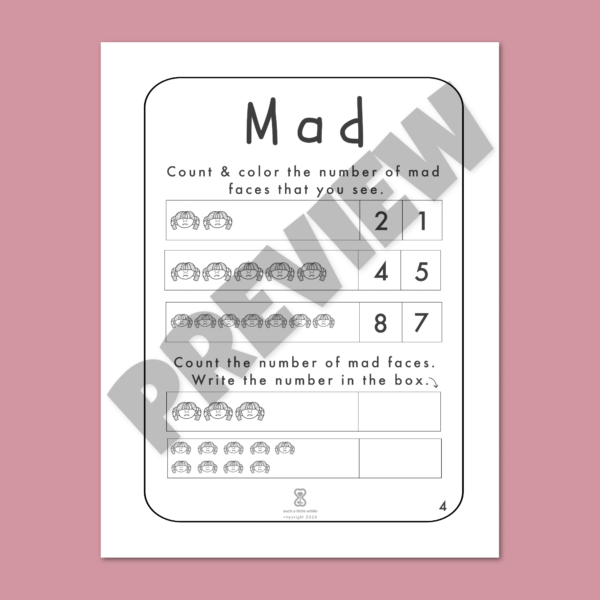 """Anger Worksheets for Kids PDF: """"It's Okay to Feel Mad!"""" by Such a Little While Preview 4"""