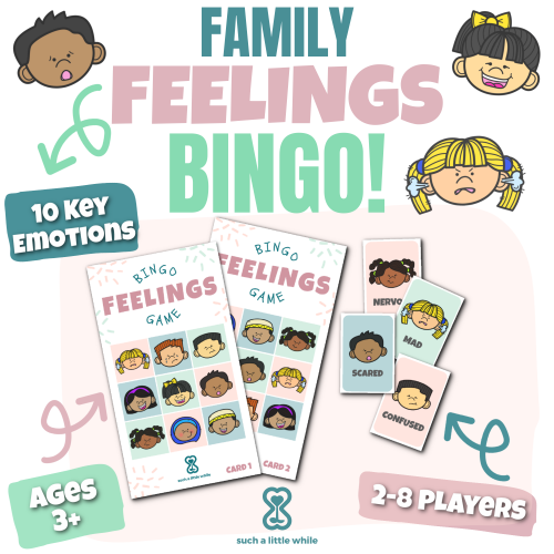 Family Feelings Bingo Game by Such a Little While