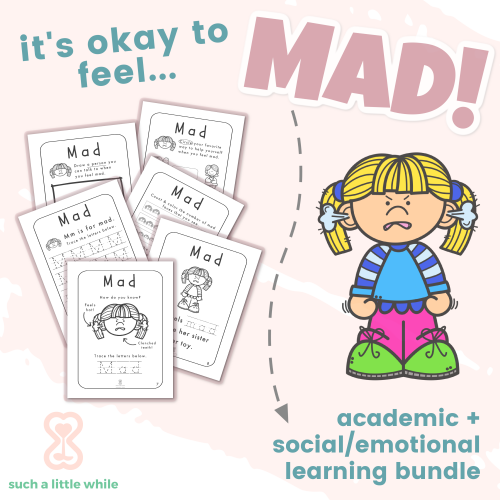 Anger Worksheets for Kids by Such a Little While