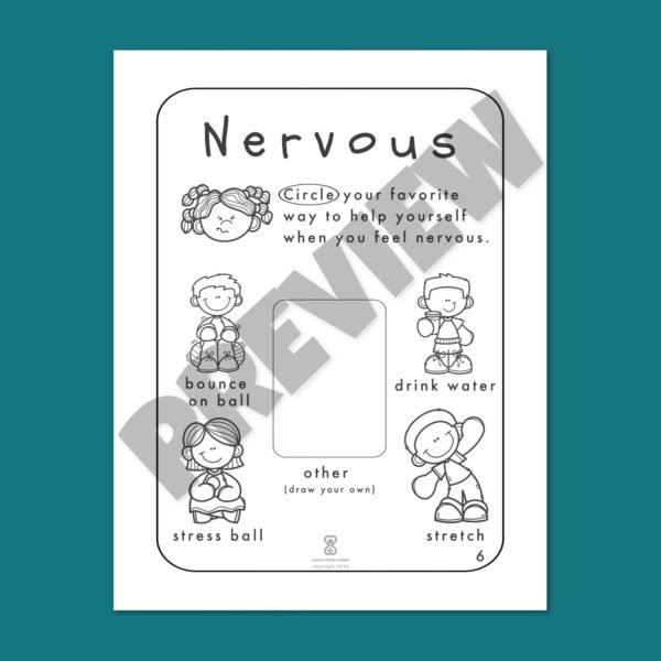 "Anxiety Worksheets for Kids PDF: ""It's Okay to Feel Nervous"" by Such a Little While Preview 6"