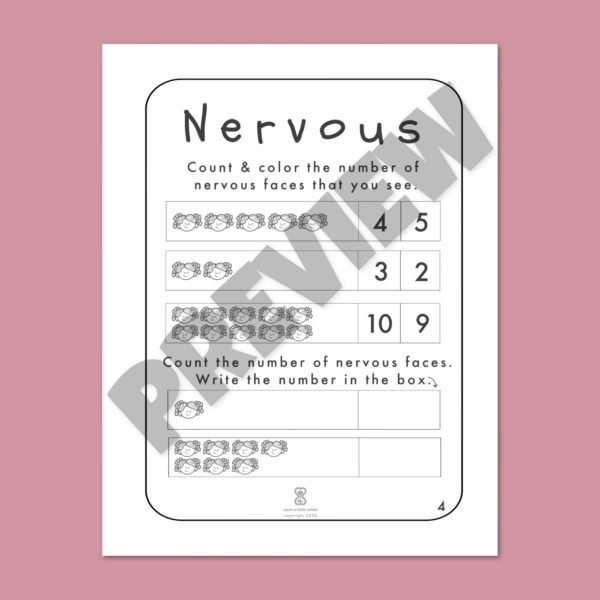 "Anxiety Worksheets for Kids PDF: ""It's Okay to Feel Nervous"" by Such a Little While Preview 4"