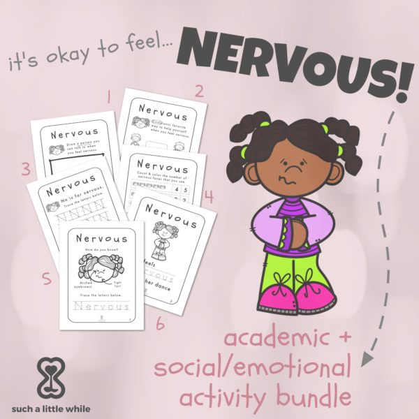 "Anxiety Worksheets for Kids PDF: ""It's Okay to Feel Nervous"" by Such a Little While"