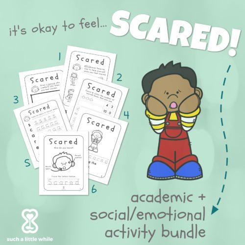 Fear Worksheets: It's Okay to Feel Scared! Pre-K Activity Bundle