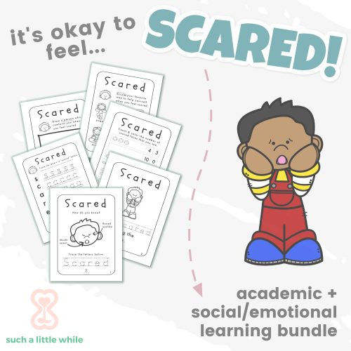 Fear Worksheets for Kids by Such a Little While