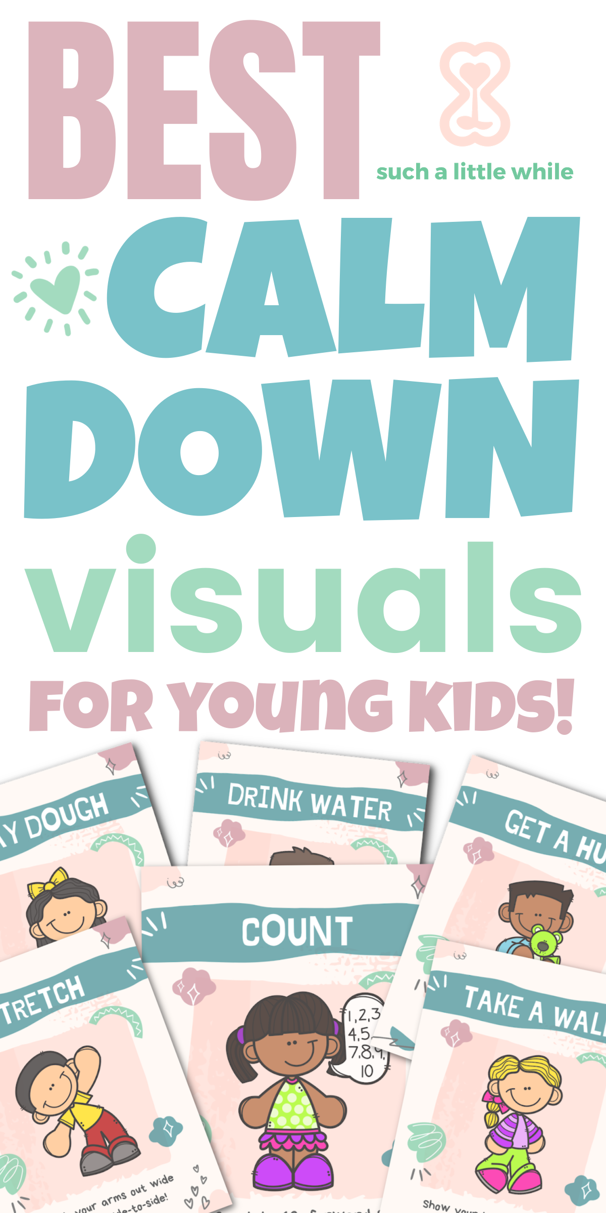 Best Calm Down Visual Cards for Young Kids by Such a Little While
