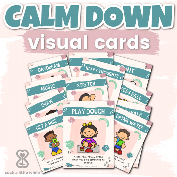 Calm Down Printables Visual Cards by Such a Little While