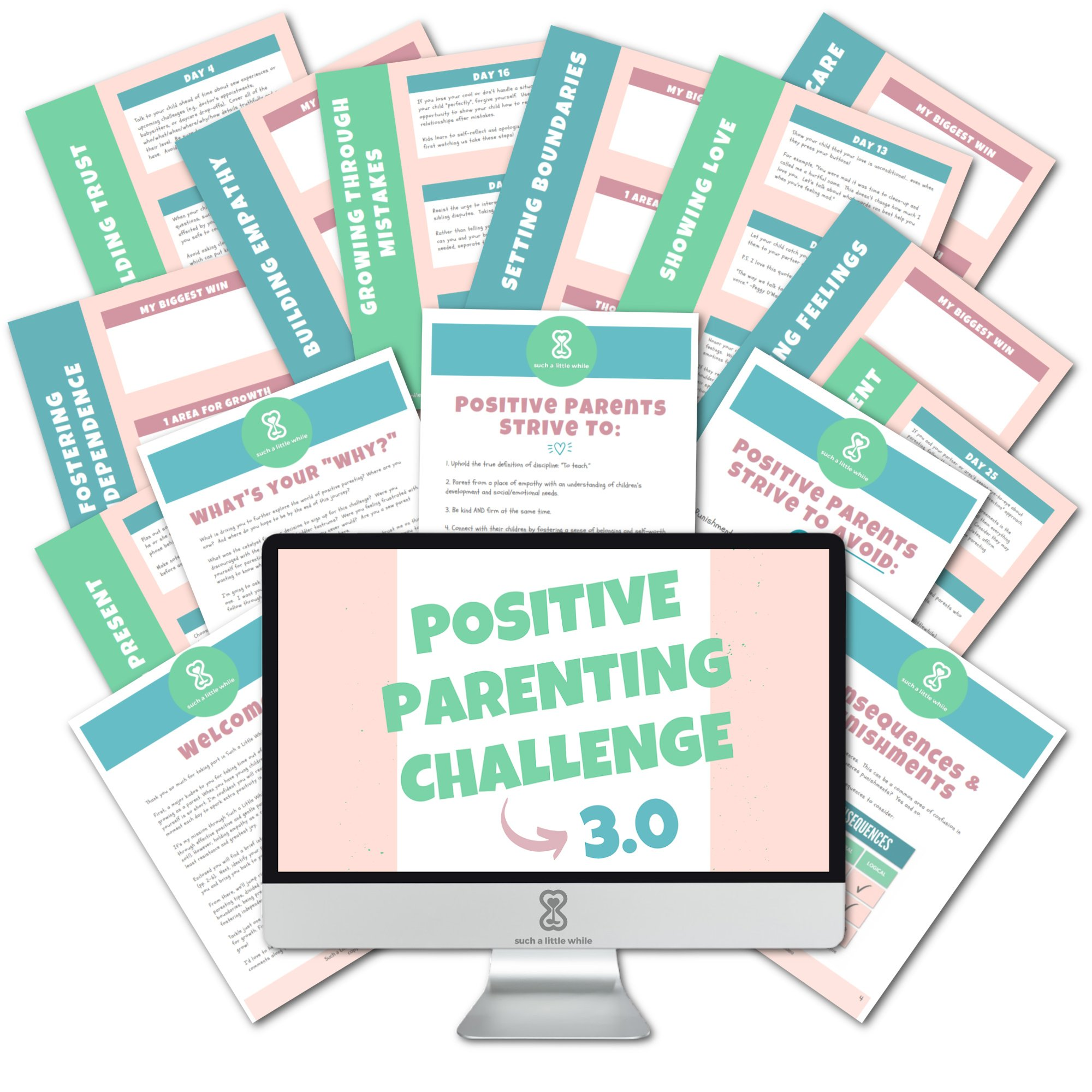 Positive Parenting Challenge 3.0 PDF Workbook with Free Email Course