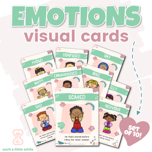 Printable Feelings Cards for Identifying Emotions by Such a Little While