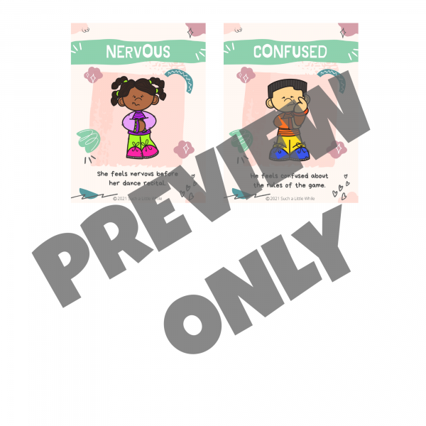 Printable Feelings Cards Preview 3 by Such a Little While