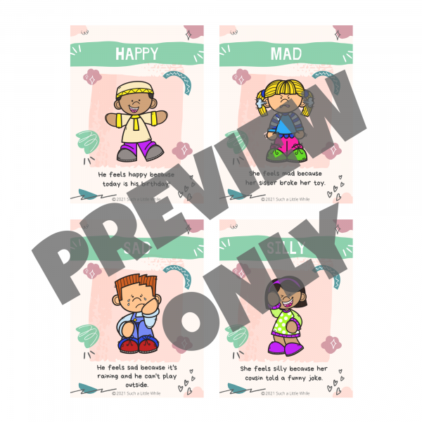 Printable Feelings Cards Preview 1 by Such a Little While