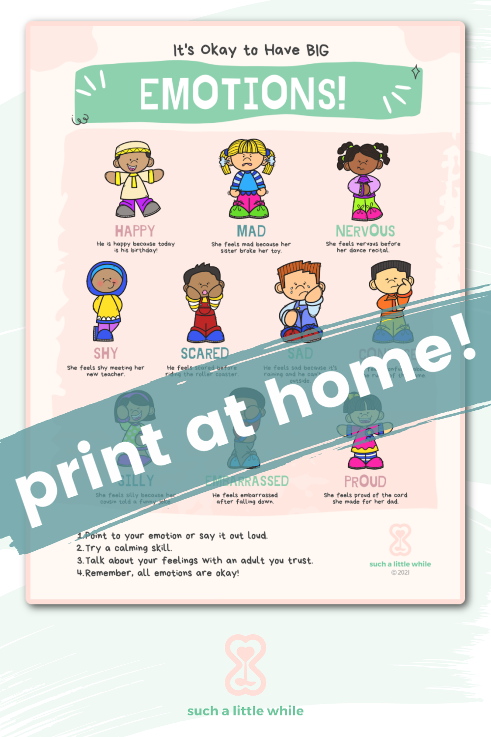 feelings poster printable pdf by such a little while
