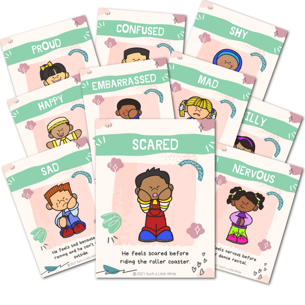 Calm Down Corner Printables: Visual Calm Down Tools for Identifying Emotions by Such a Little While