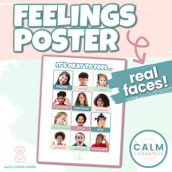Printable Feelings Poster for Preschool Real Faces | How to Create a Calming Corner by Such a Little WhilePreview of Printable Feelings Poster for Preschool Real Faces by Such a Little While Printable Feelings Poster for Preschool Real Faces by Such a Little WhilePreview of Printable Feelings Poster for Preschool Real Faces by Such a Little While Feelings Poster for Preschool & Elementary (Real Faces)