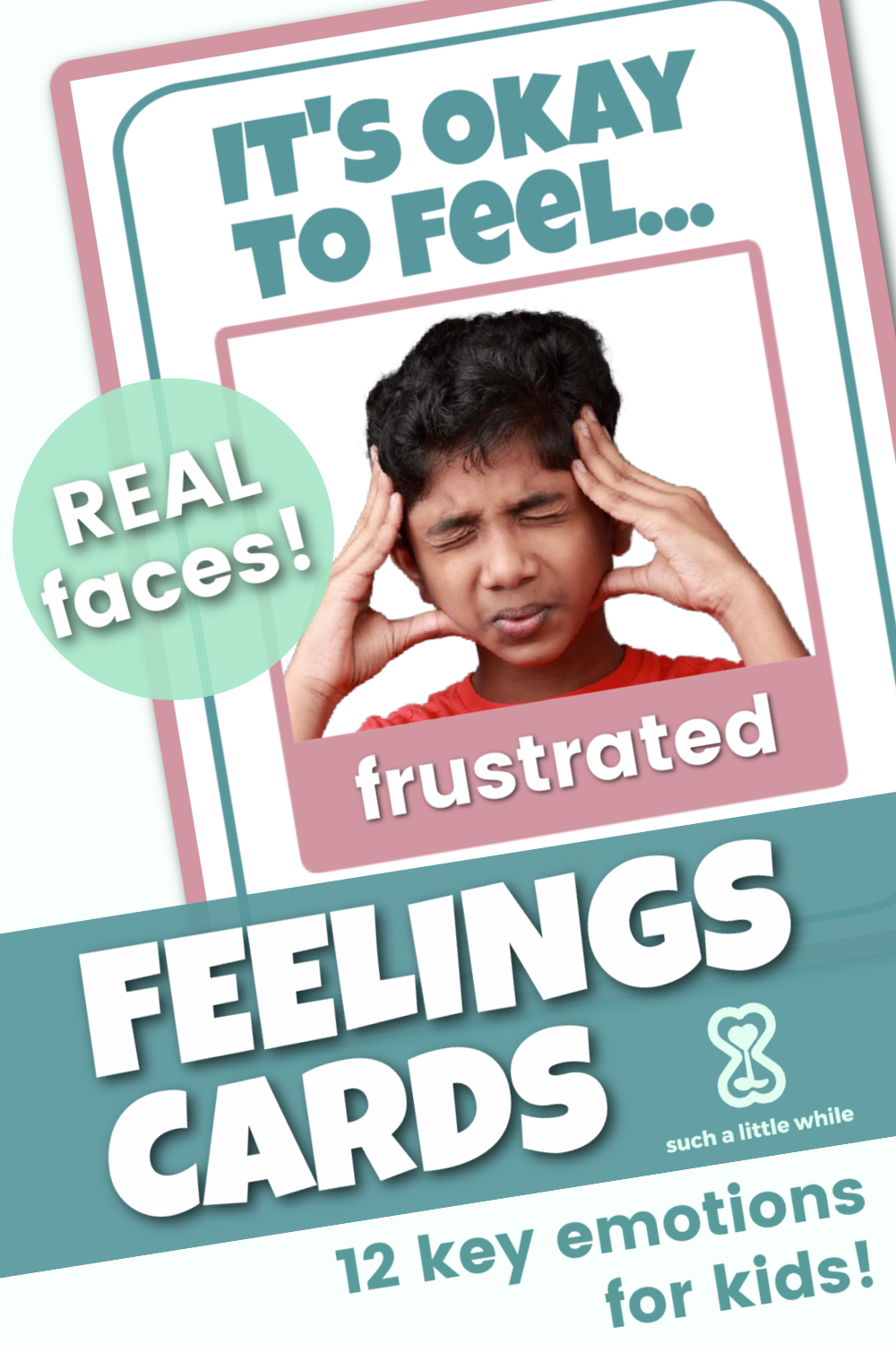 Printable Feelings Cards for Preschoolers! By Such a Little While