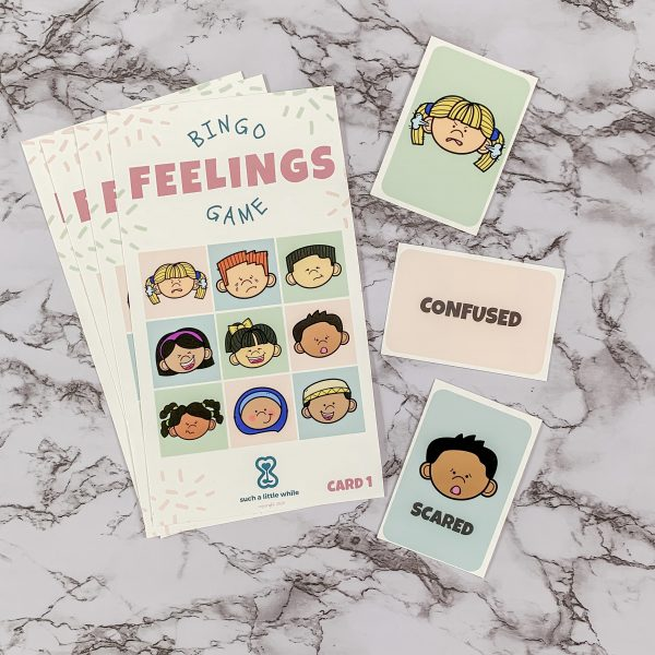 Feelings Bingo Game Printable PDF by Such a Little While