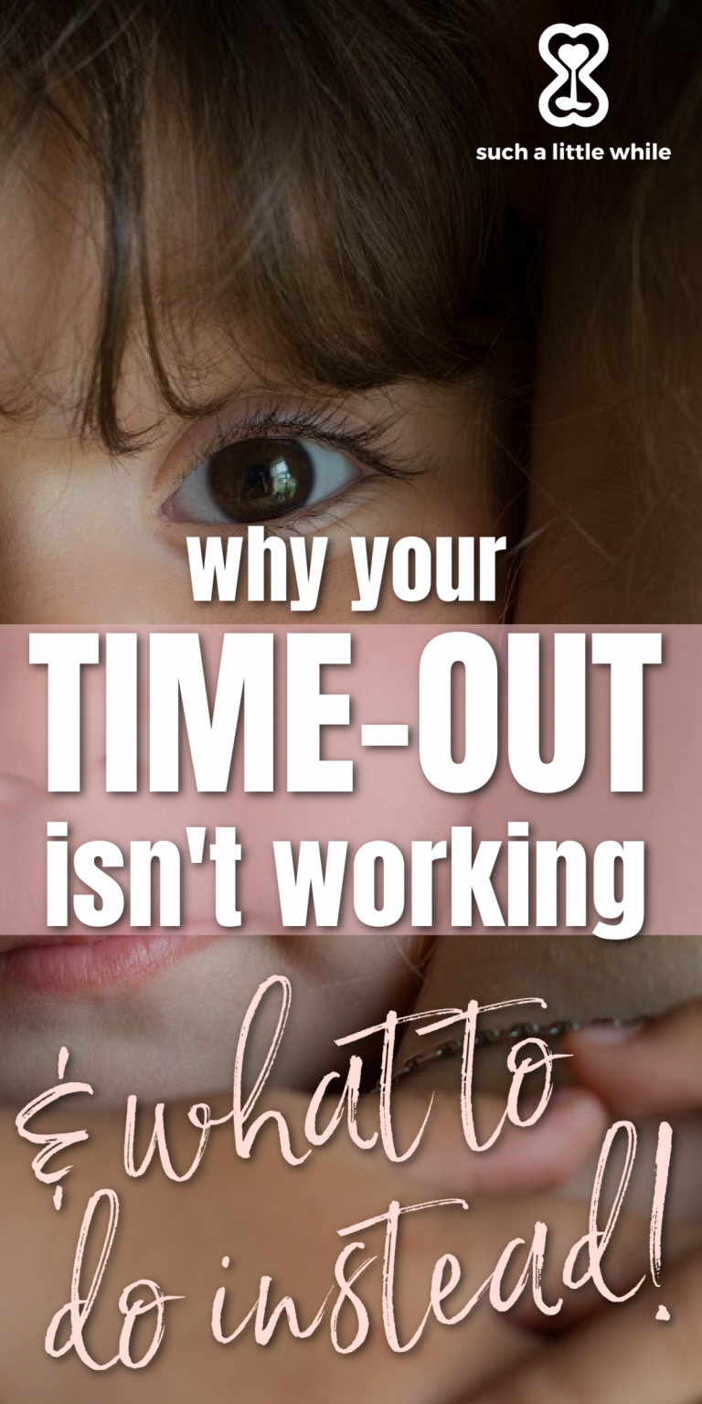 Why your time-out isn't working and what to do instead! By Such a Little While | Positive Parenting