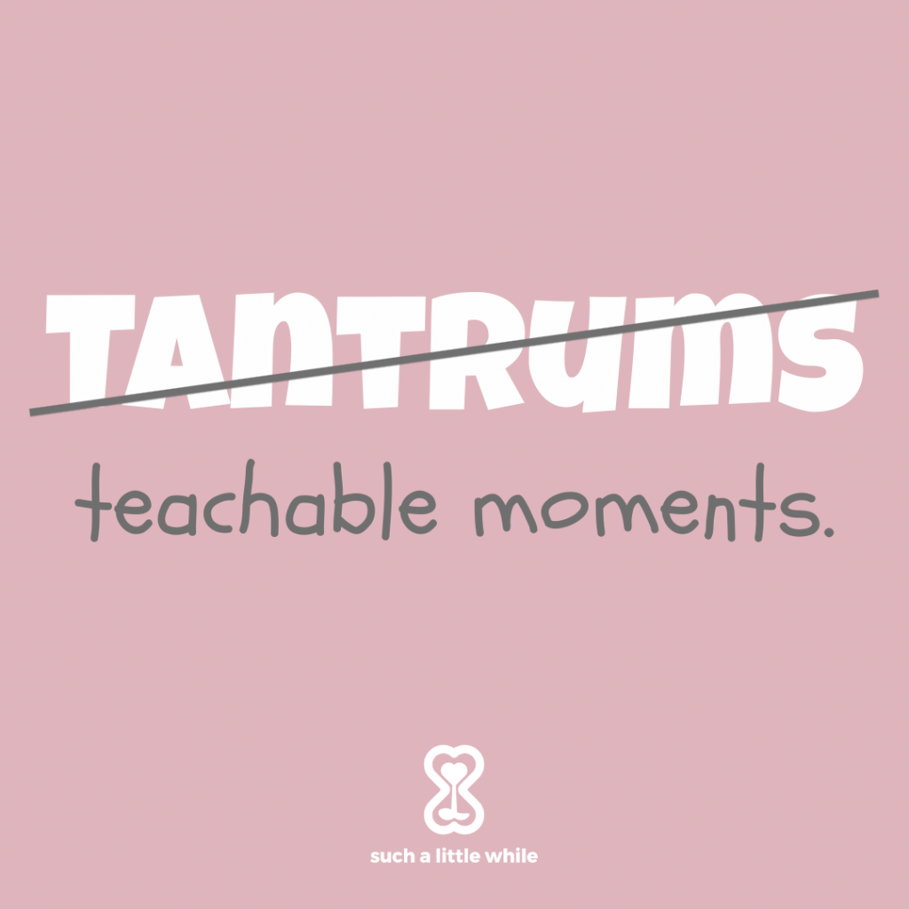 """How to Handle Tantrums in 3-Year-Olds: """"Tantrums are teachable moments"""" Positive parenting tips by Such a Little While."""